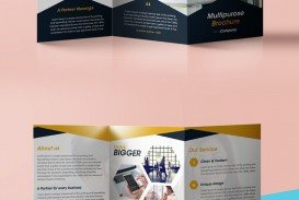 006 Incredible 3 Fold Brochure Template High Def  For Free