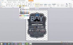 006 Incredible Baby Shower Invitation Template Word Idea  Office Wording Sample Work Download