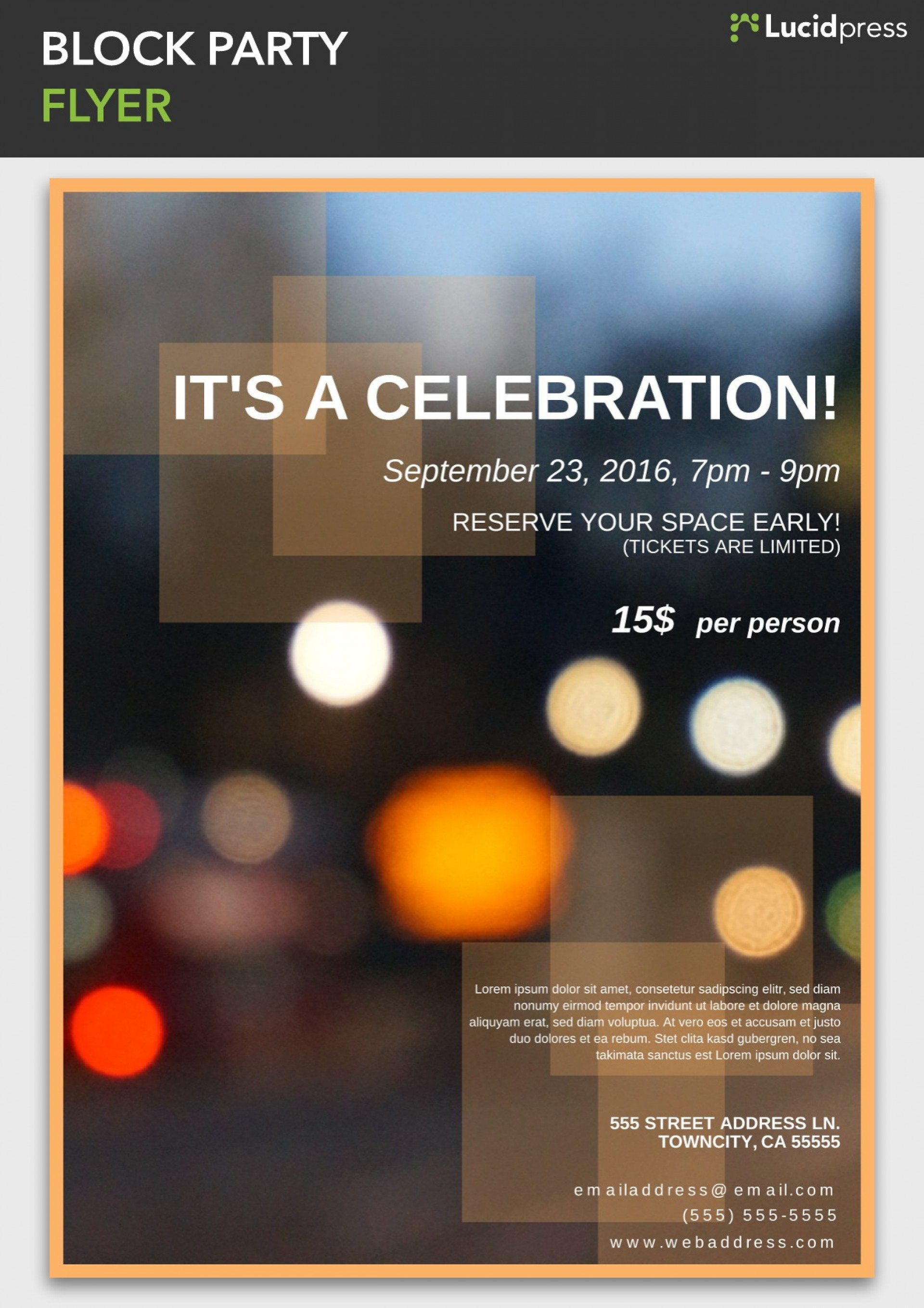006 Incredible Block Party Flyer Template Inspiration  Templates Free1920