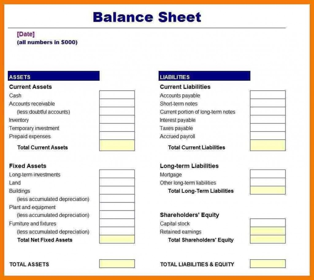 006 Incredible Busines Balance Sheet Template Example  Word Excel Small SampleLarge