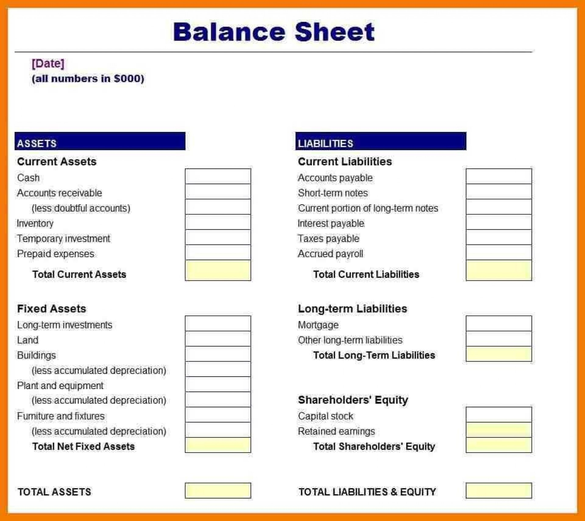 006 Incredible Busines Balance Sheet Template Example  Word Excel Small Sample1920