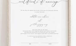 006 Incredible Certificate Of Marriage Template Highest Clarity  Word Australia