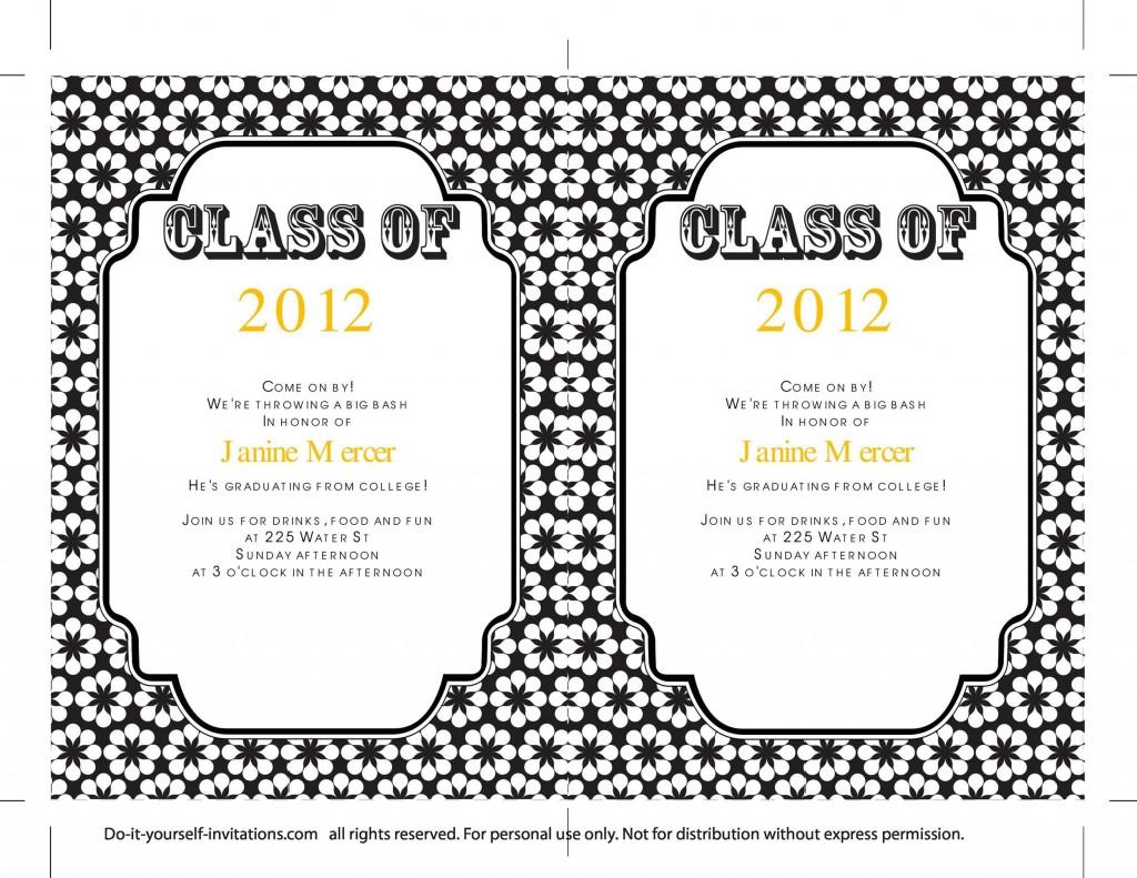 006 Incredible Diy Graduation Announcement Template Free Design  InvitationLarge