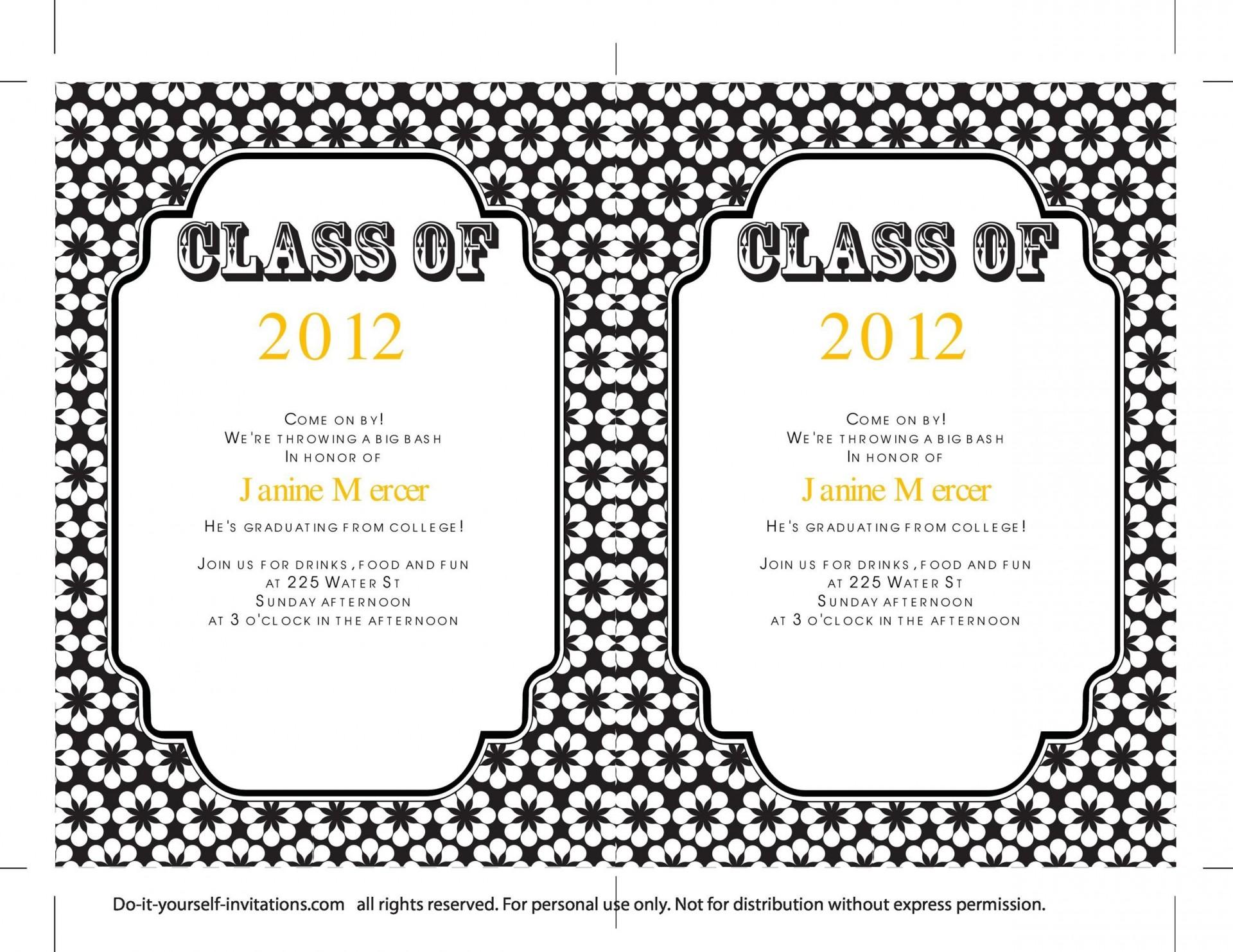 006 Incredible Diy Graduation Announcement Template Free Design  Invitation1920