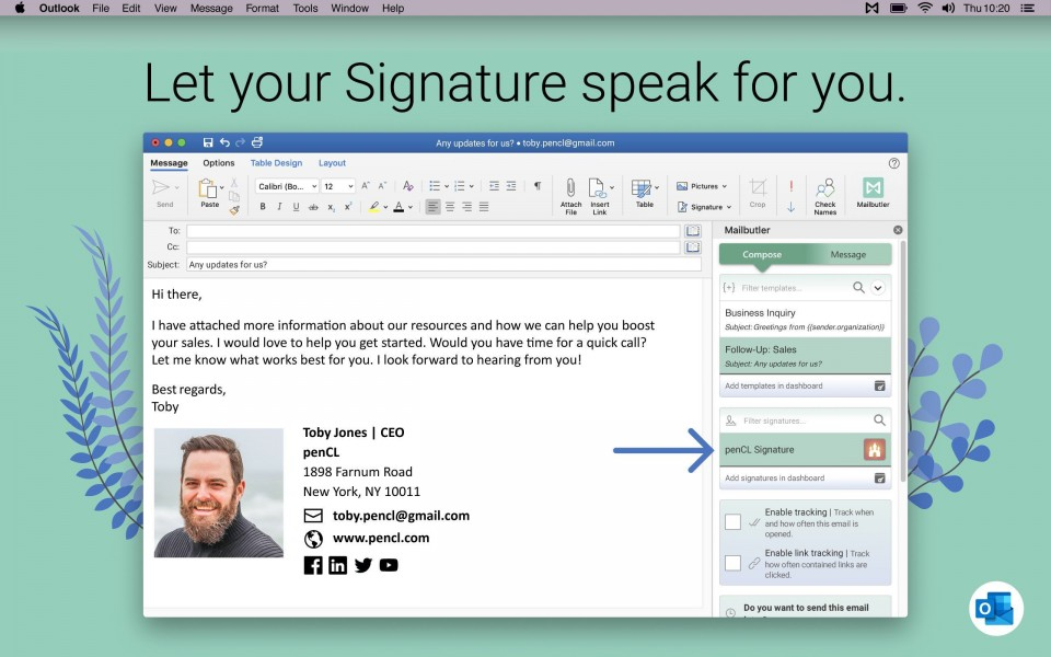 006 Incredible Email Signature Format For Outlook Design  Example Template Microsoft960