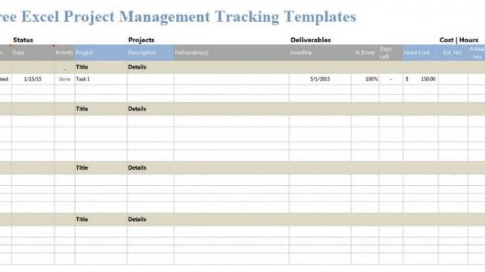 006 Incredible Excel Template Project Management Inspiration  Portfolio Dashboard Multiple Free960