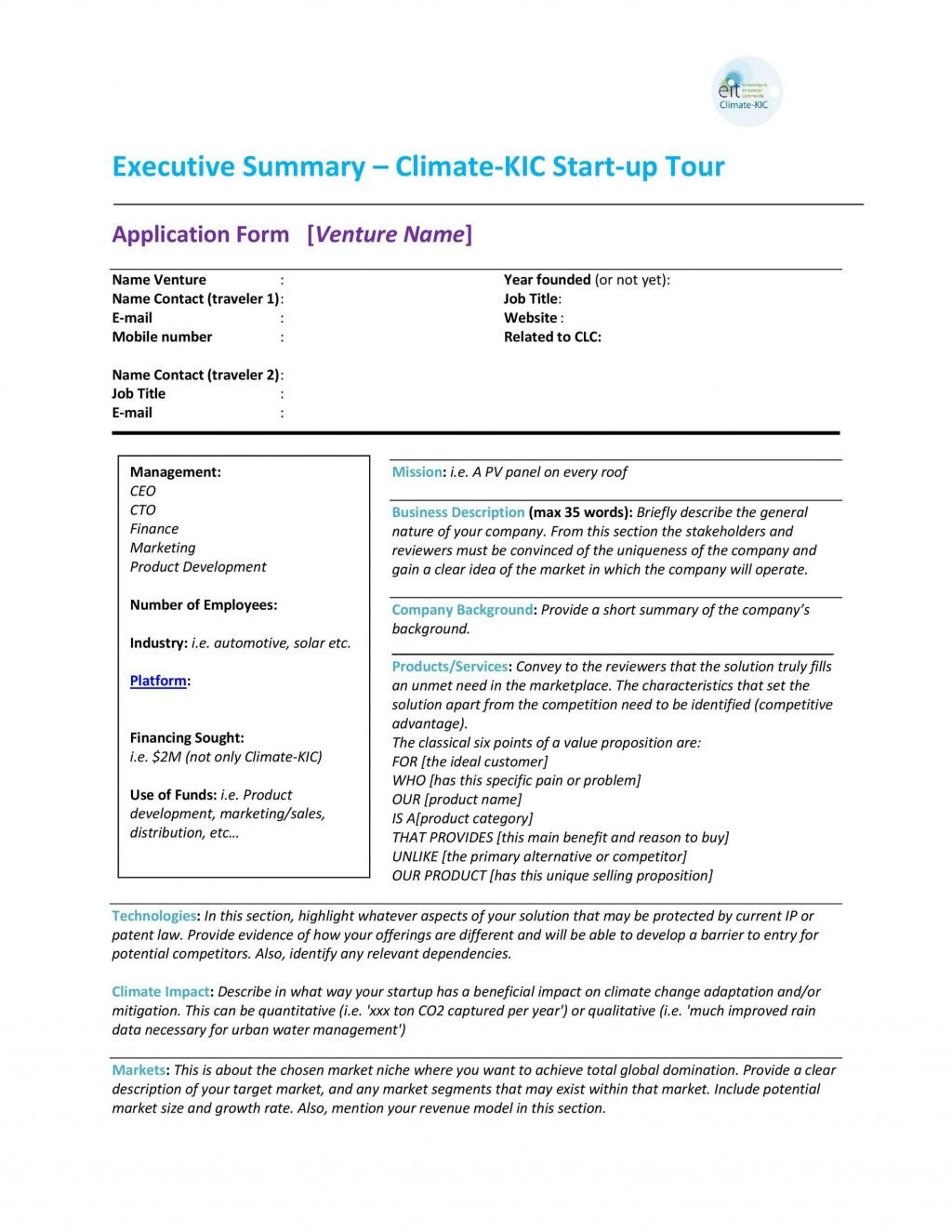 006 Incredible Executive Summary Template Word Free Idea Large