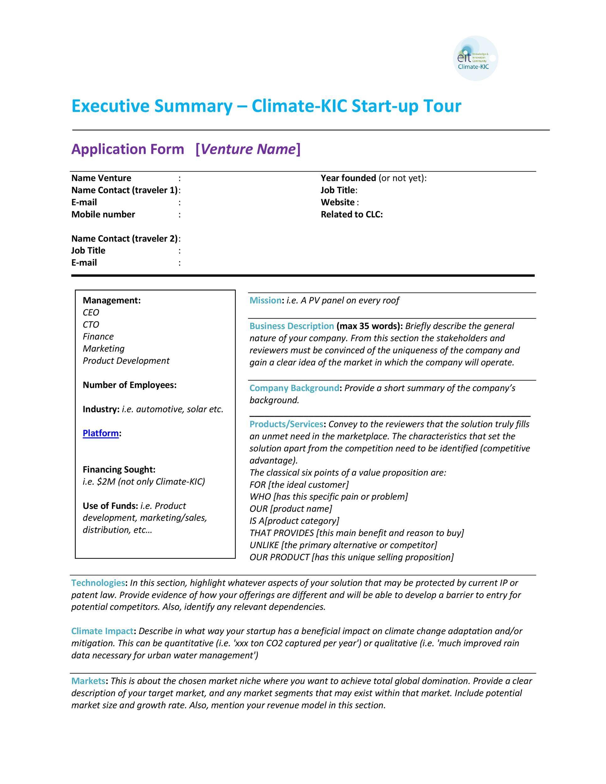 006 Incredible Executive Summary Template Word Free Idea Full