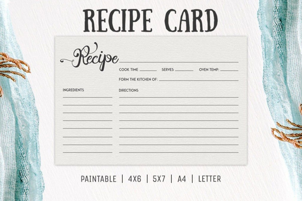 006 Incredible Free 4x6 Recipe Card Template For Microsoft Word High Def  EditableLarge