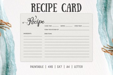 006 Incredible Free 4x6 Recipe Card Template For Microsoft Word High Def  Editable360