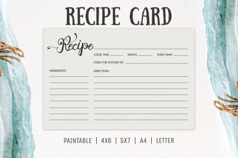 006 Incredible Free 4x6 Recipe Card Template For Microsoft Word High Def  Editable480
