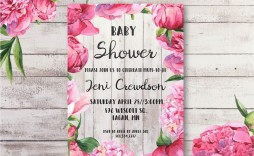006 Incredible Free Baby Shower Template Printable Design  Invitation Boy Nautical