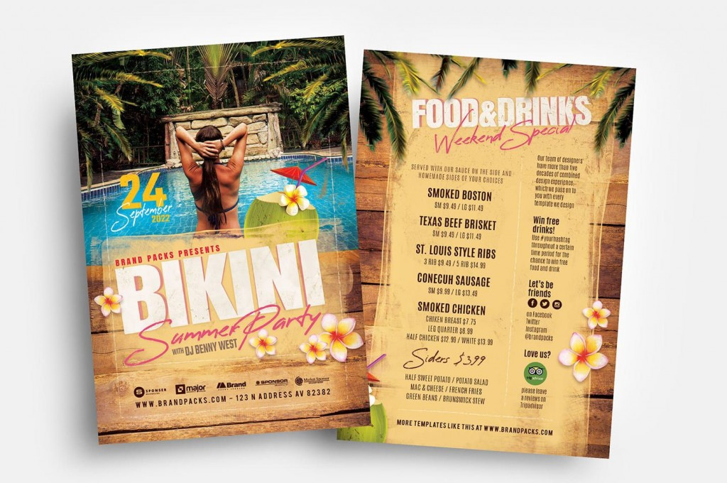 006 Incredible Free Party Flyer Template For Mac High Definition Large