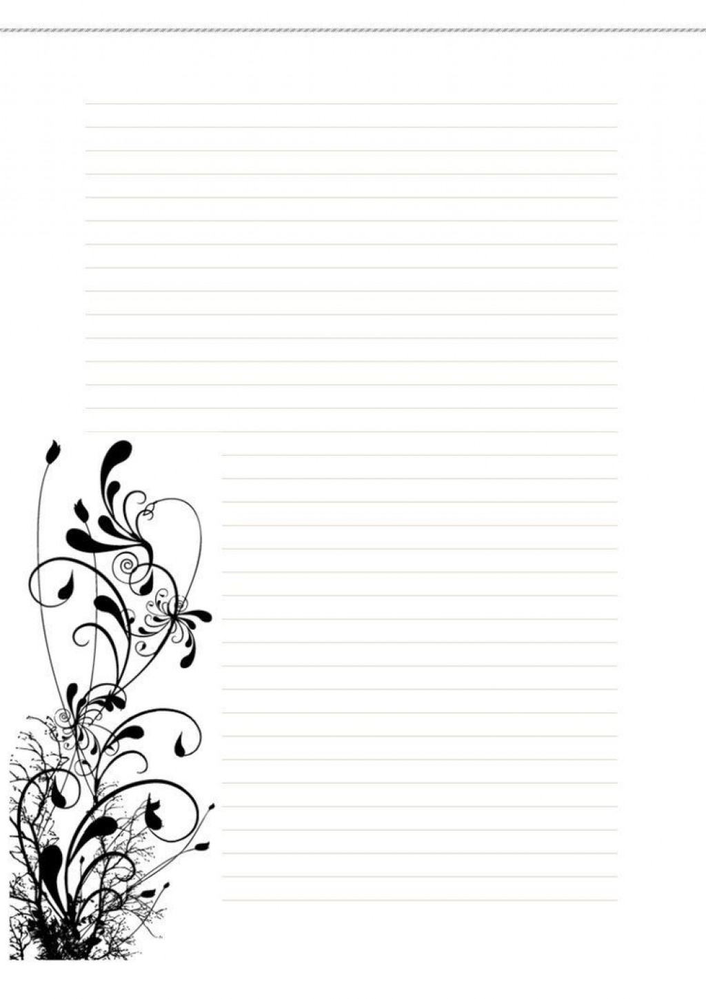 006 Incredible Free Printable Stationery Paper Template Image  TemplatesLarge