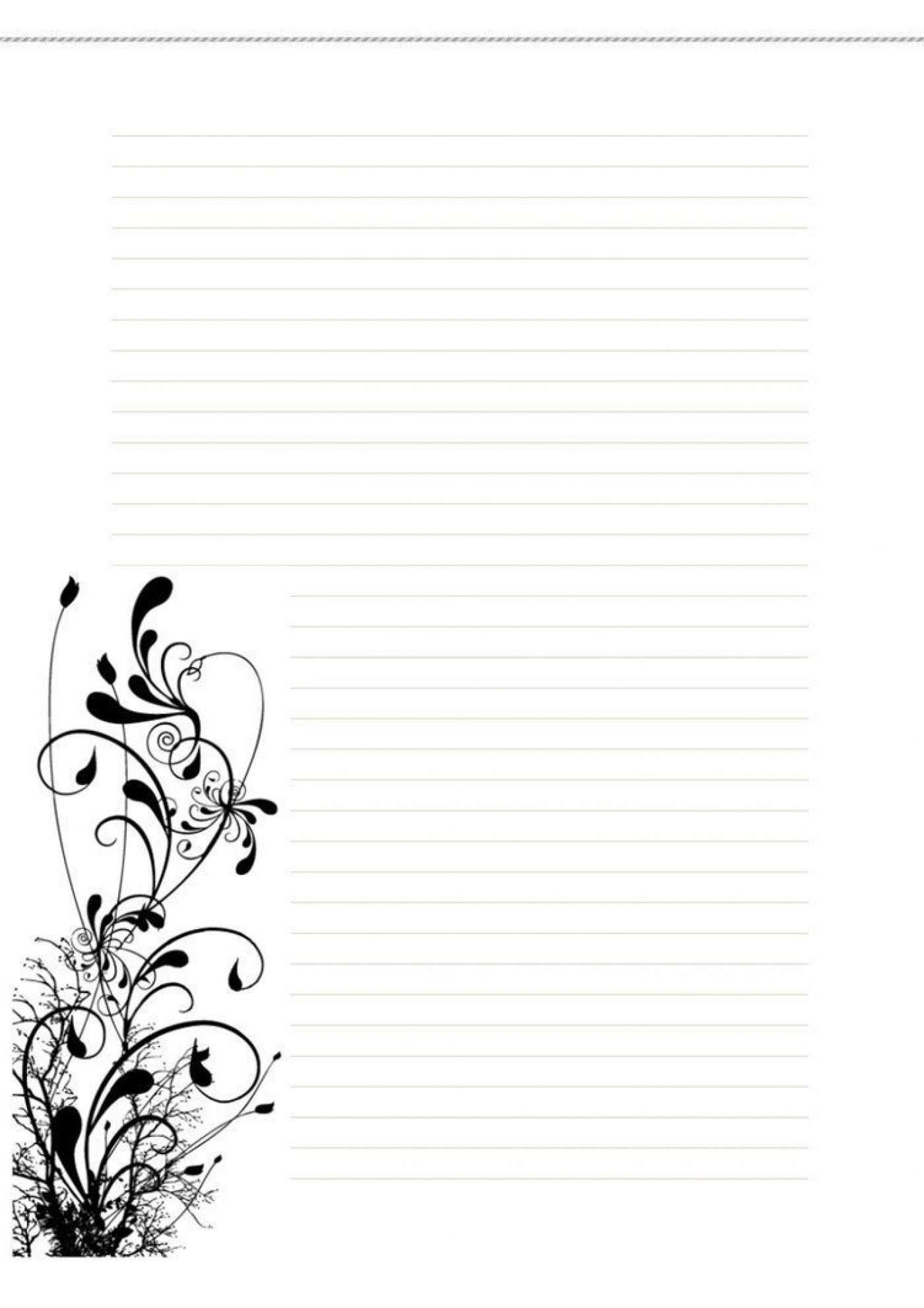 006 Incredible Free Printable Stationery Paper Template Image 1400