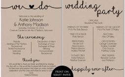 006 Incredible Free Printable Wedding Program Template Inspiration  Templates Microsoft Word Indian