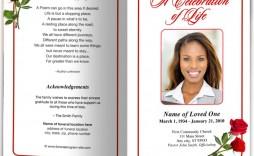 006 Incredible Funeral Program Template Free Inspiration  Download Memorial