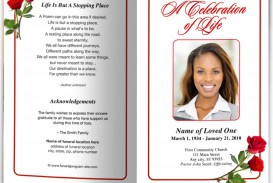 006 Incredible Funeral Program Template Free Inspiration  Printable Design