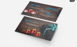 006 Incredible Gift Card Template Psd Idea  Christma Photoshop Free Holder