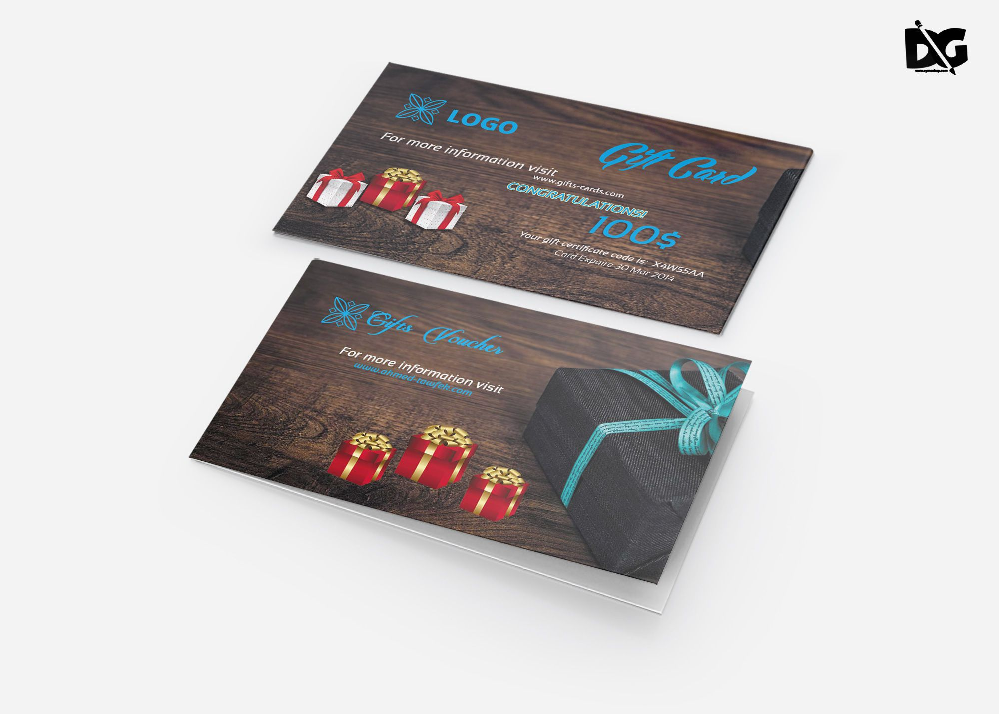 006 Incredible Gift Card Template Psd Idea  Christma Photoshop Free HolderFull
