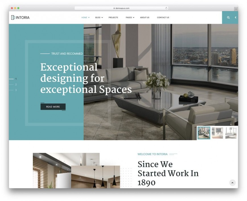 006 Incredible Interior Design Website Template Image  Templates Themeforest Arczone - Decor Architecture Html Free Download