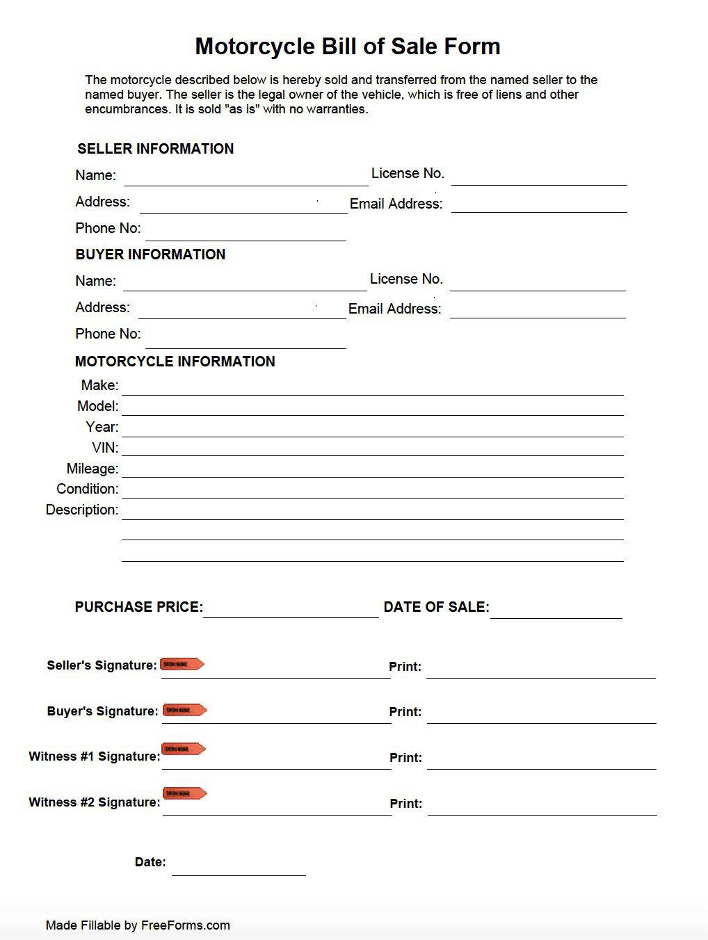 006 Incredible Motorcycle Bill Of Sale Template Image  Ontario Printable Word CaliforniaFull