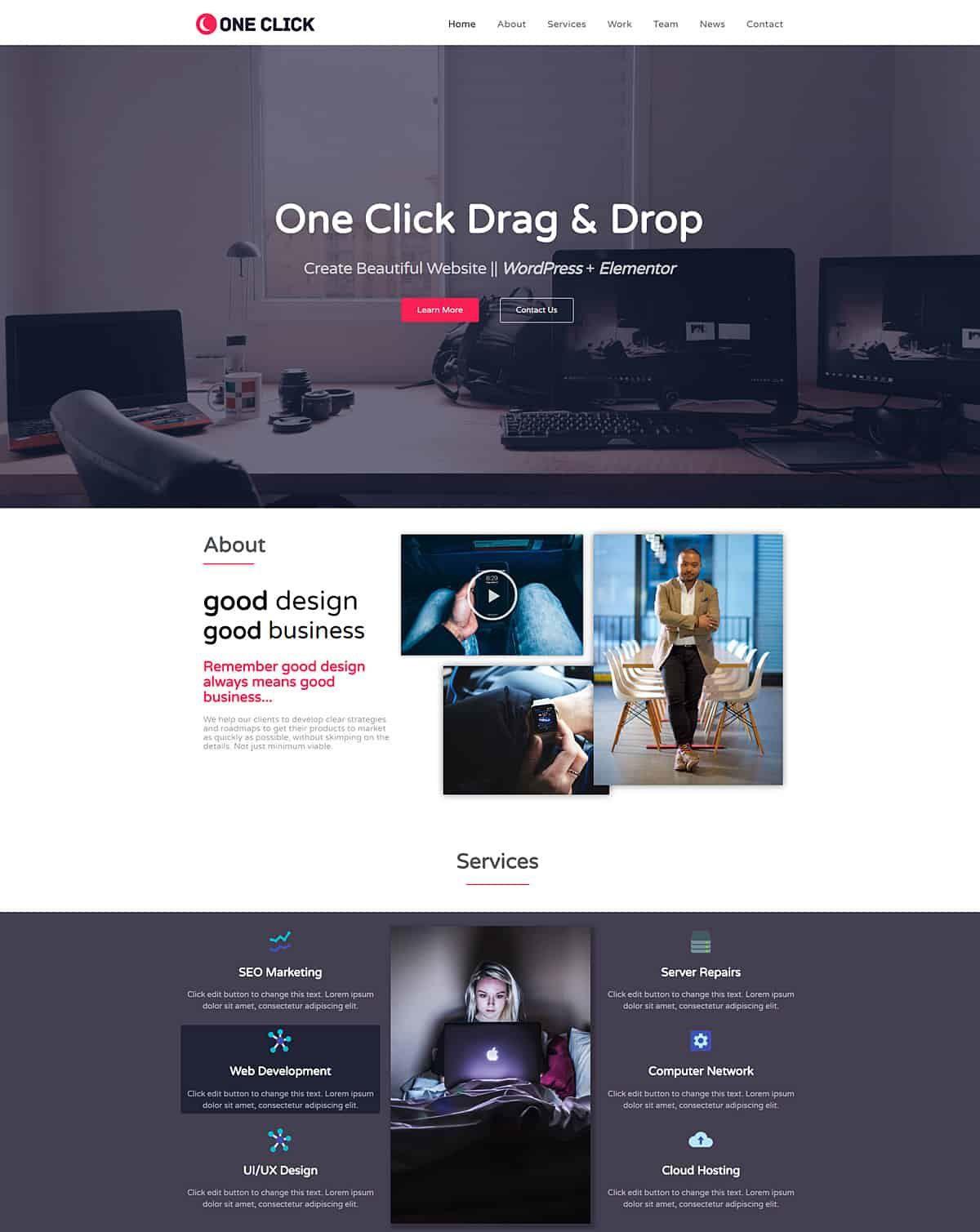 006 Incredible One Page Website Template Free Download Wordpres High Def  WordpressFull