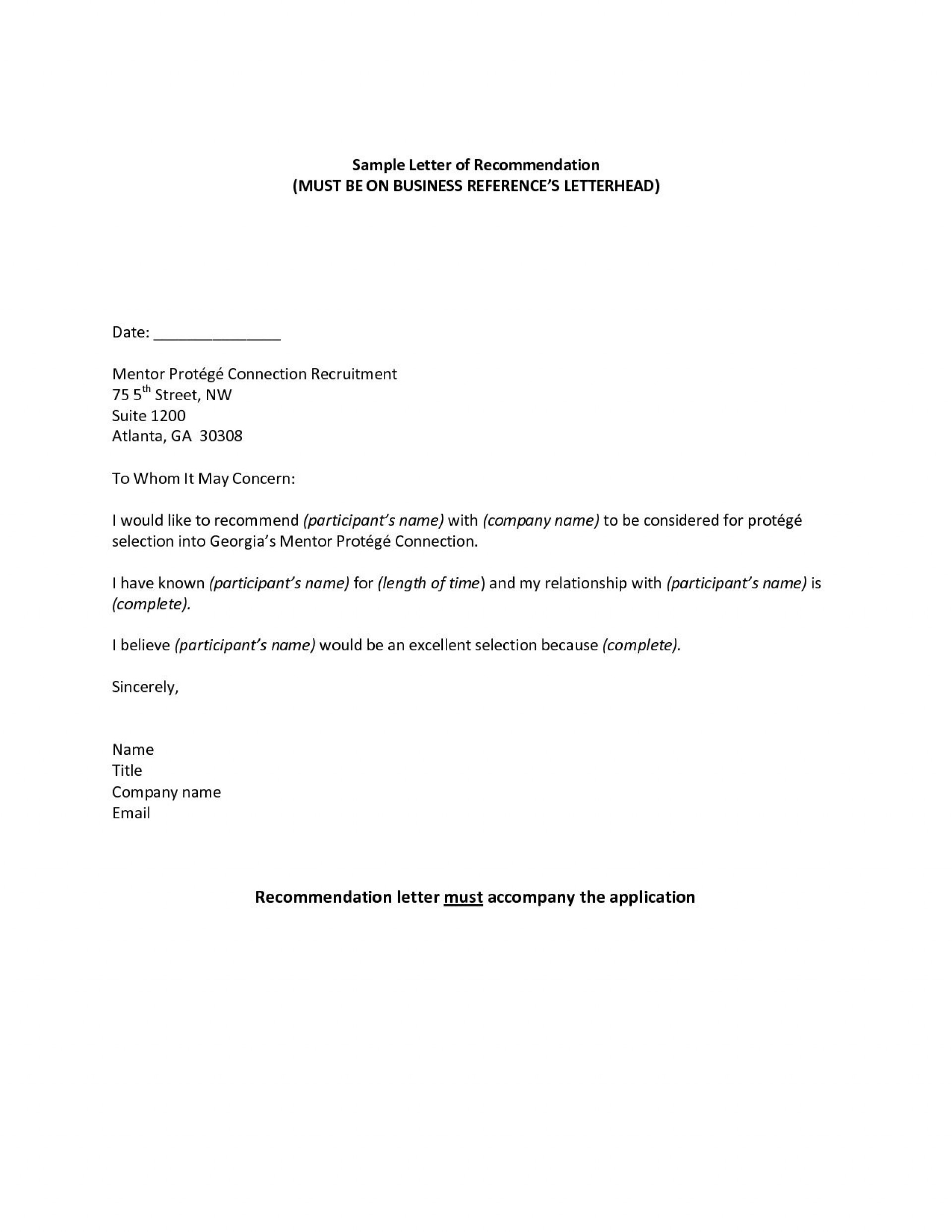 006 Incredible Professional Reference Letter Template High Resolution  Doc Nursing Free1920