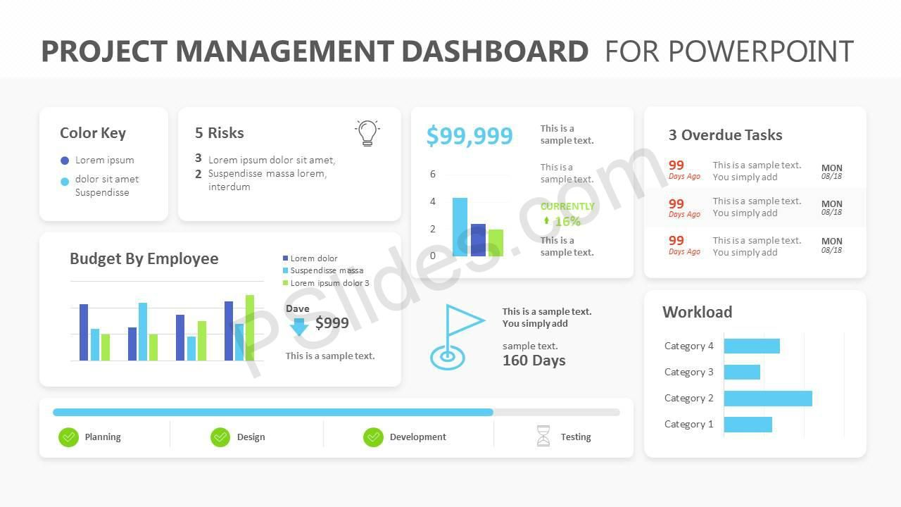 006 Incredible Project Management Dashboard Powerpoint Template Free Download Concept Full