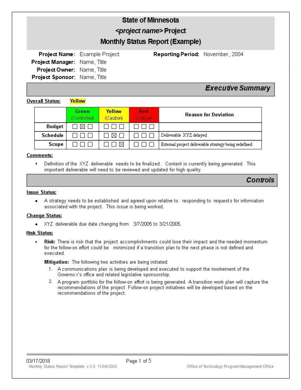 006 Incredible Project Management Monthly Progres Report Template Example Large