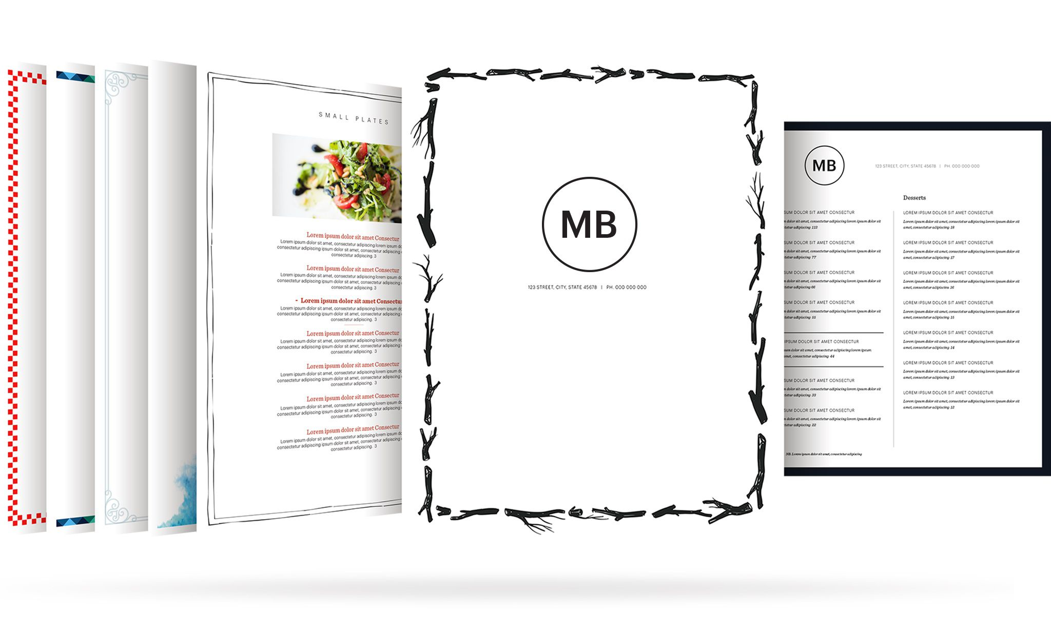 006 Incredible Restaurant Menu Template Free High Def  Card Download Indesign WordFull