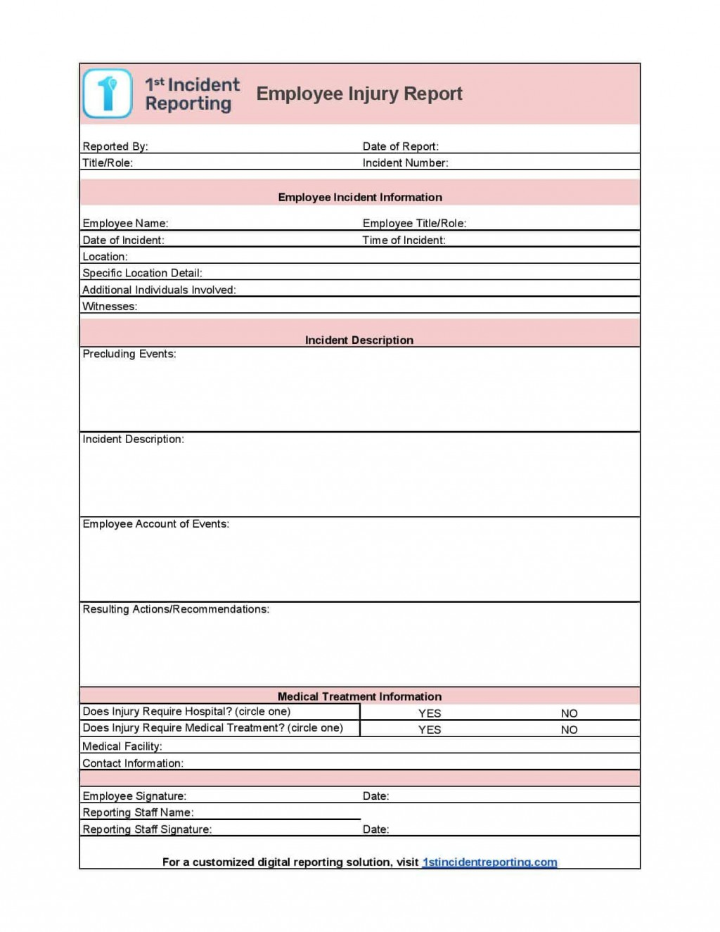 006 Incredible Workplace Incident Report Form Ontario Design  ViolenceLarge