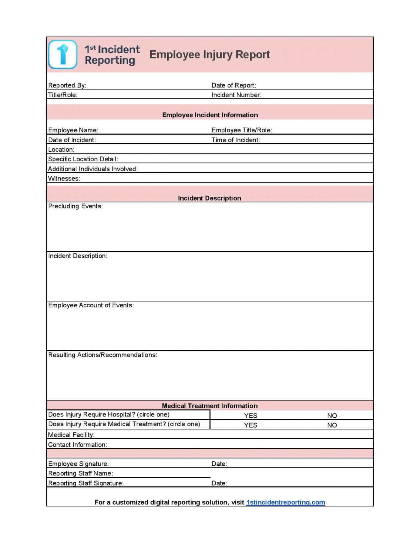 006 Incredible Workplace Incident Report Form Ontario Design  Violence1400
