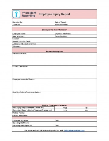 006 Incredible Workplace Incident Report Form Ontario Design  Violence360