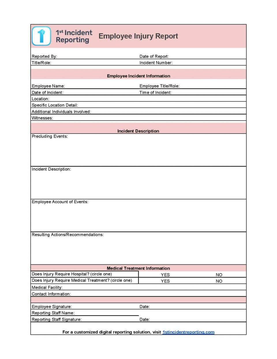 006 Incredible Workplace Incident Report Form Ontario Design  Violence960