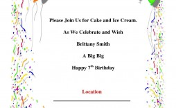 006 Magnificent Birthday Party Invitation Template Word Free High Resolution  Download Invite