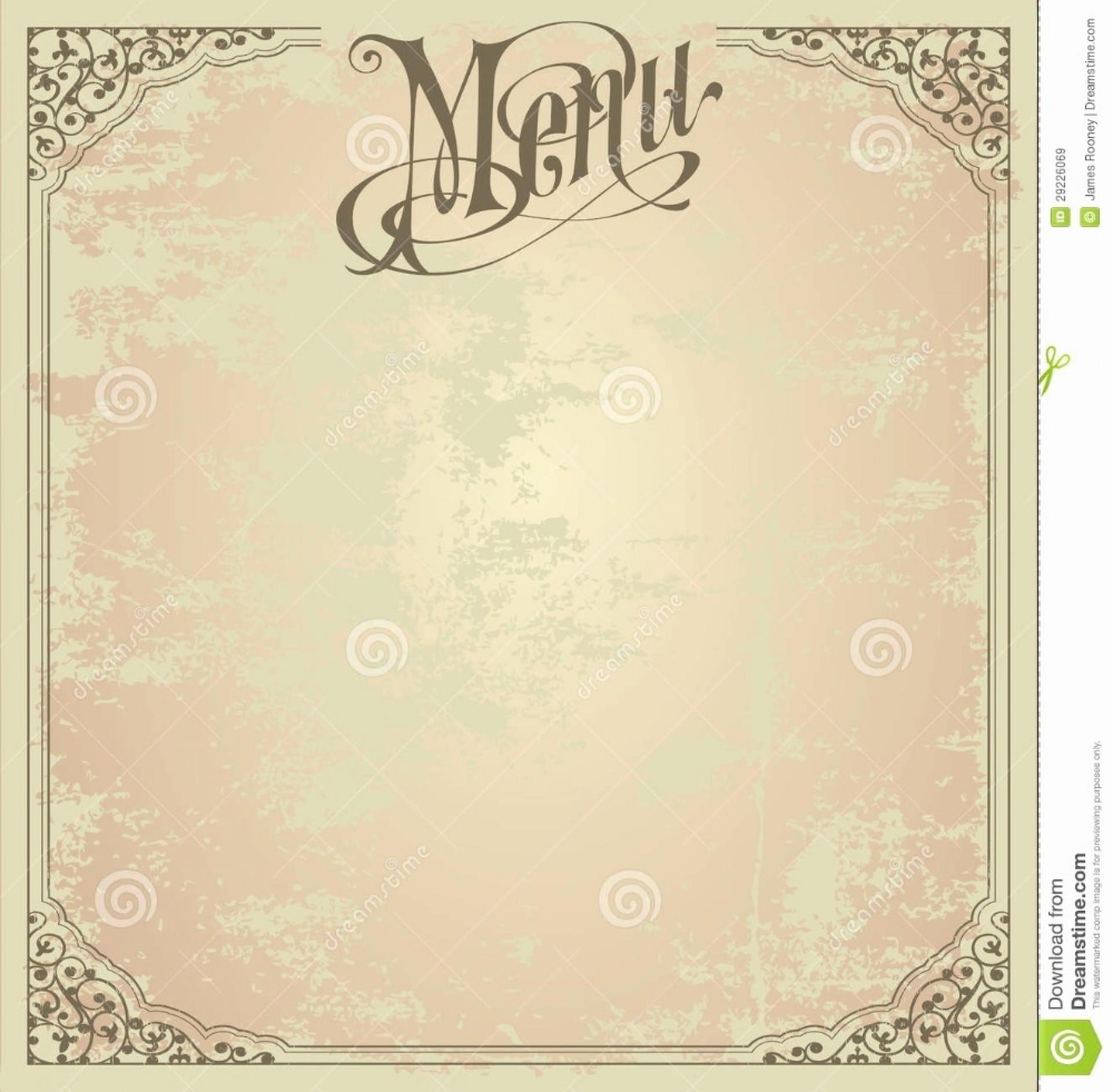 006 Magnificent Blank Restaurant Menu Template Concept  Free Printable Downloadable1920