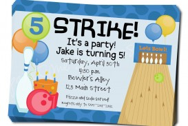 006 Magnificent Bowling Party Invite Printable Free Highest Quality  Birthday Invitation