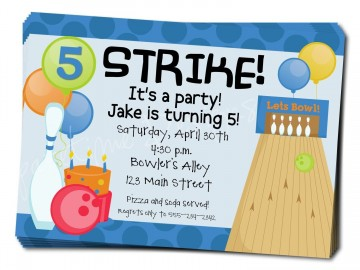 006 Magnificent Bowling Party Invite Printable Free Highest Quality  Birthday Invitation360