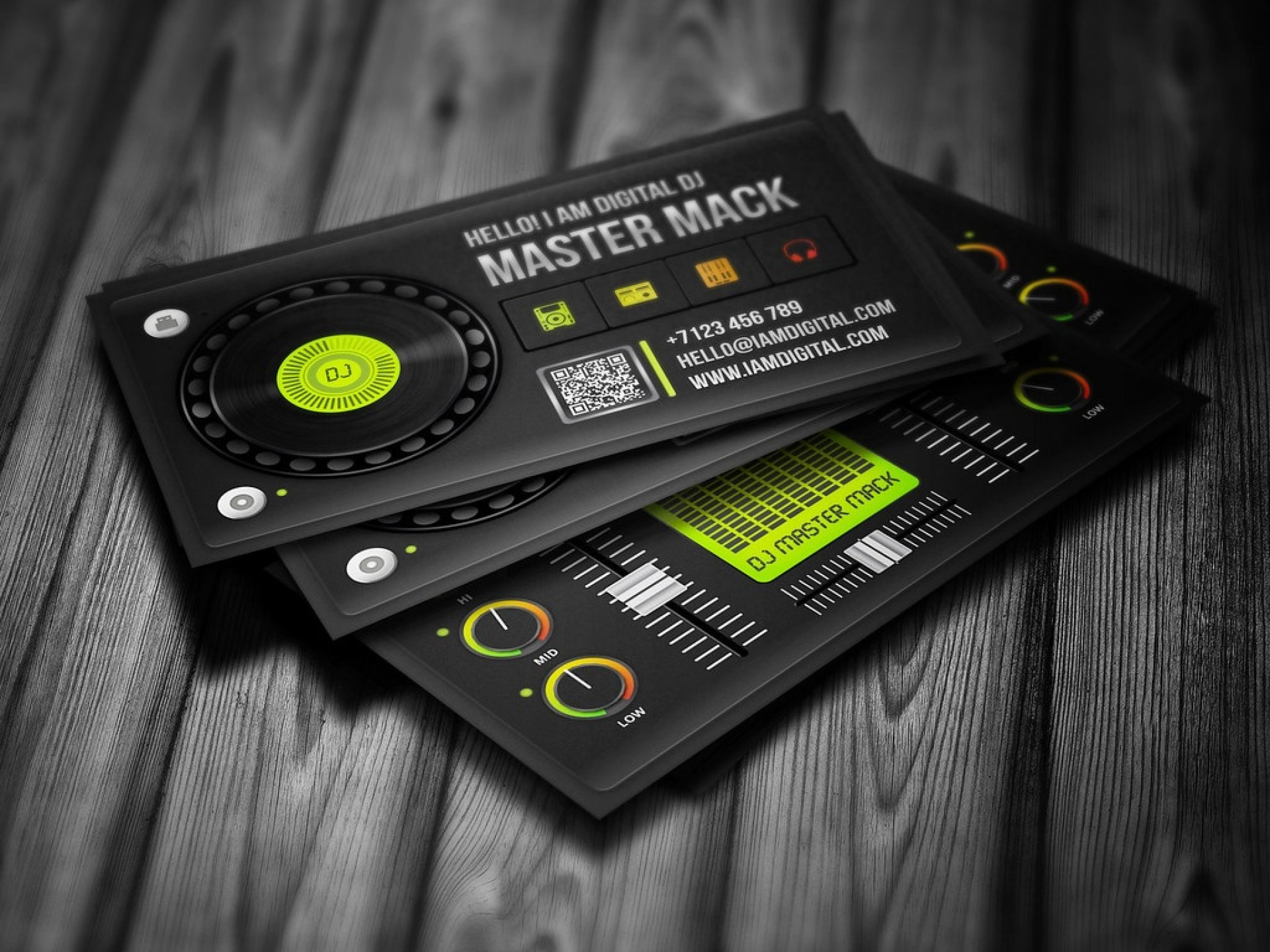 006 Magnificent Dj Busines Card Template Concept  Psd Free Download1920