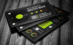 006 Magnificent Dj Busines Card Template Concept  Psd Free Download