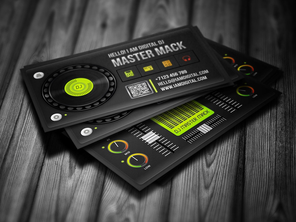 006 Magnificent Dj Busines Card Template Concept  Psd Free DownloadFull
