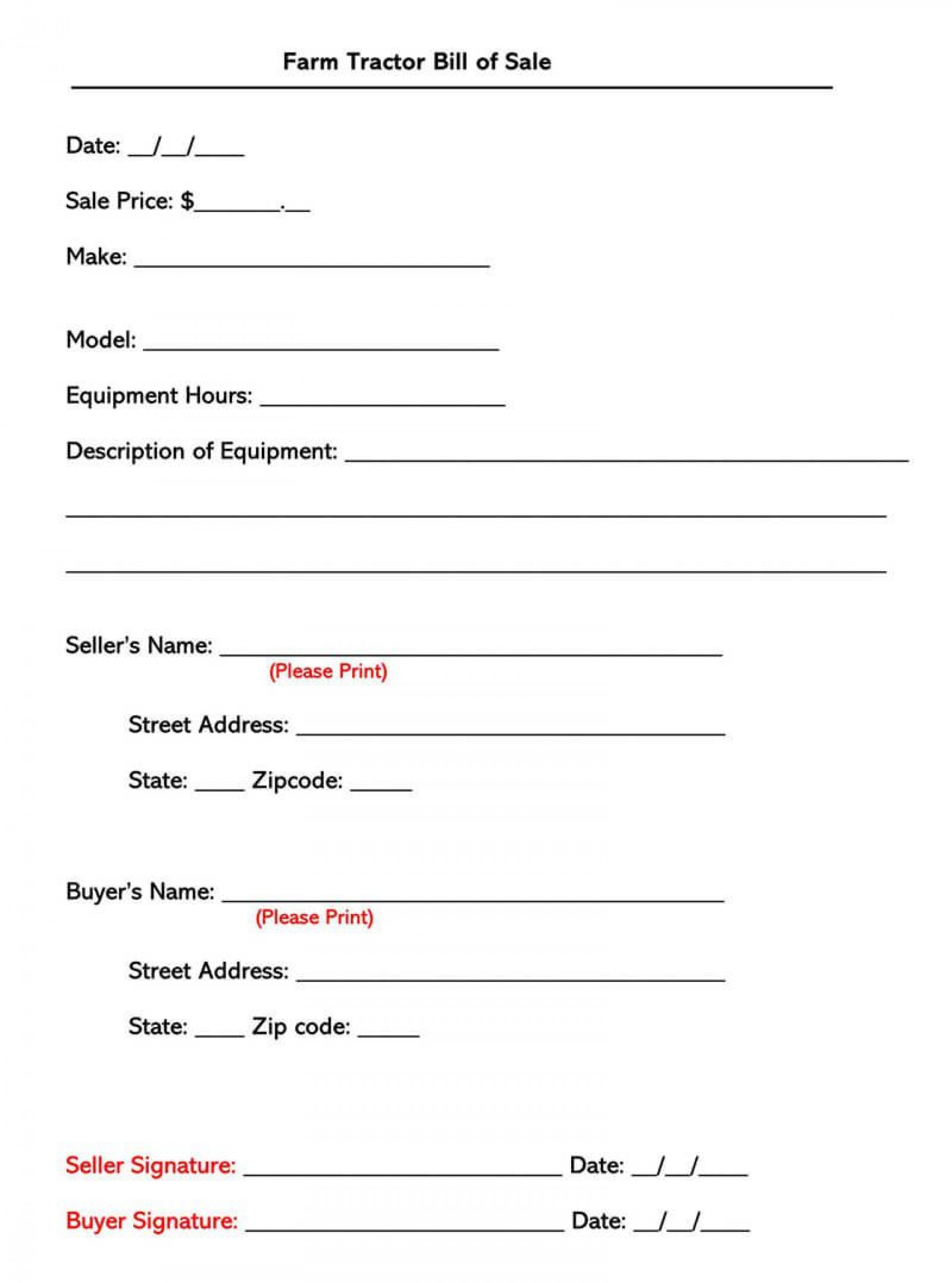 006 Magnificent Equipment Bill Of Sale Form Idea  Forms Word Document Alberta Simple Template1920