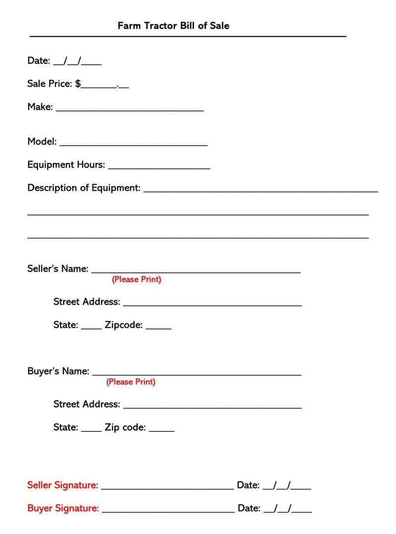 006 Magnificent Equipment Bill Of Sale Form Idea  Forms Word Document Alberta Simple TemplateFull