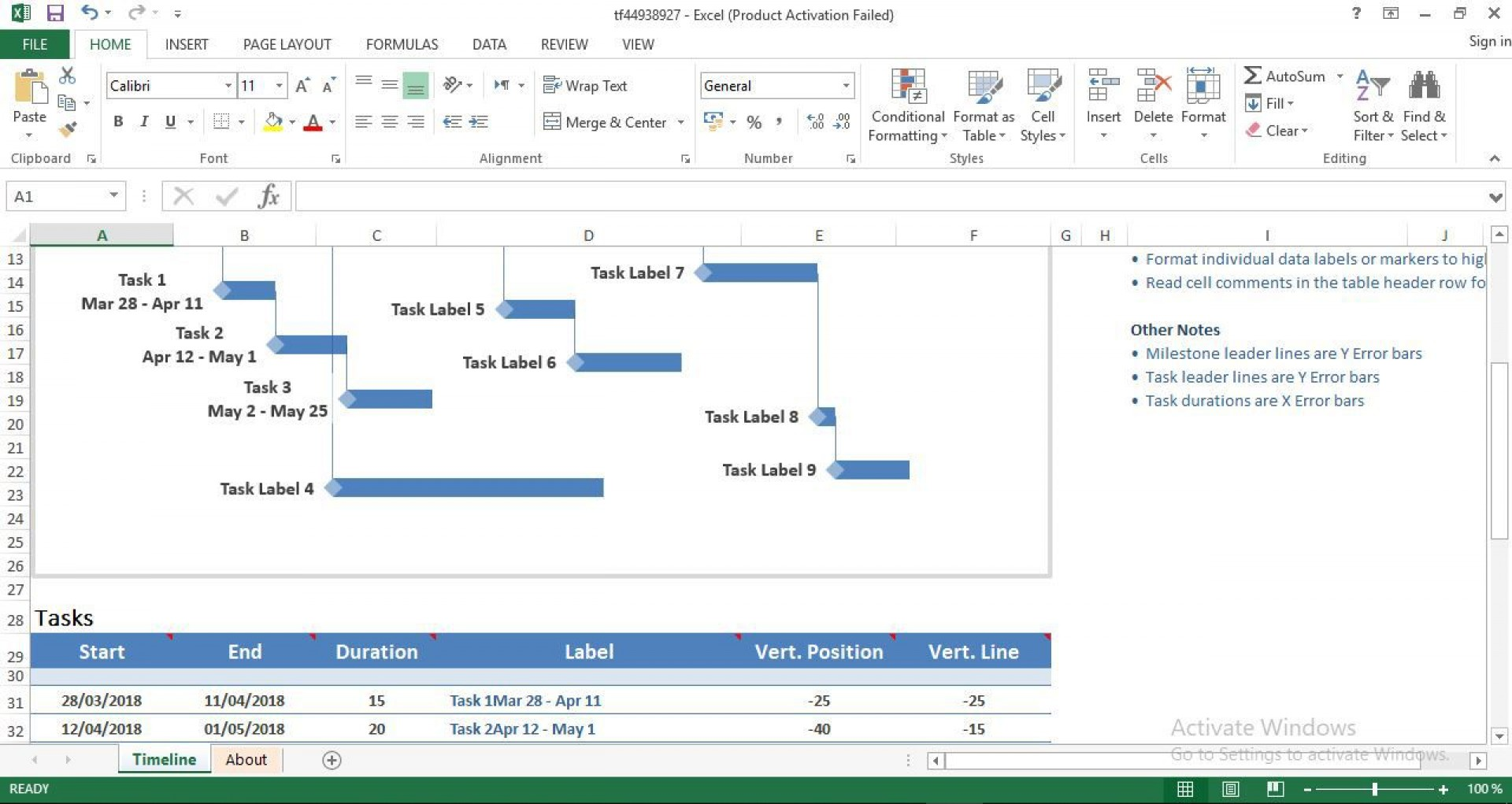 006 Magnificent Excel Project Timeline Template Highest Quality  2020 Xl Tutorial1920
