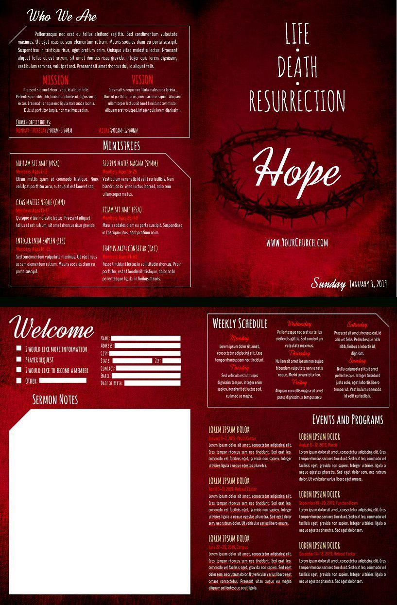 006 Magnificent Free Church Program Template Microsoft Publisher High Def Full