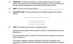 006 Magnificent Free Operating Agreement Template Concept  Pdf Missouri Llc