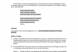 006 Magnificent Free Service Contract Template Doc High Def