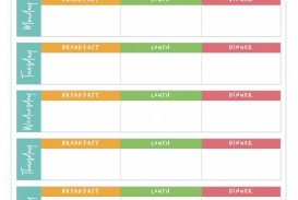 006 Magnificent Meal Plan Printable Pdf Photo  Worksheet Downloadable Template Sheet