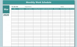 006 Magnificent Monthly Employee Schedule Template Excel Highest Quality  Work Blank
